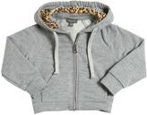Microbe Cotton Blend Hooded Sweatshirt