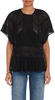 IRO Women's Tamya Lace-Inset Voile Top-BLACK