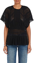 IRO Women's Tamya Lace-Inset Voile Top