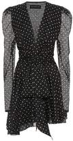 Alexandre Vauthier Polka-dot printed cotton minidress