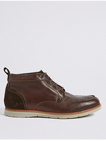 M&S Collection Big & Tall Leather Chukka Lace-up Boots