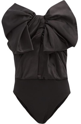 Alexandre Vauthier Exaggerated-bow Strapless Duchess-satin Bodysuit - Black