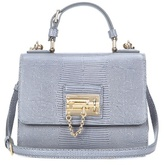 Dolce & Gabbana Monica Small Embossed Leather Shoulder Bag