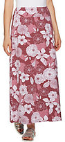 Denim & Co. As Is Petite Floral Print Maxi Skirt