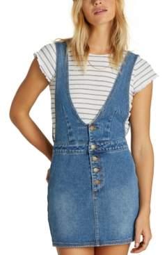 Billabong Juniors' Cotton Denim Overall Dress