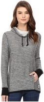 Converse Textured Cowl Neck Tunic
