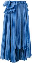 Rochas mid-length pleated skirt - women - Cotton/Silk - 42