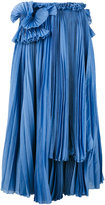 Rochas mid-length pleated skirt - women - Silk/Cotton - 42