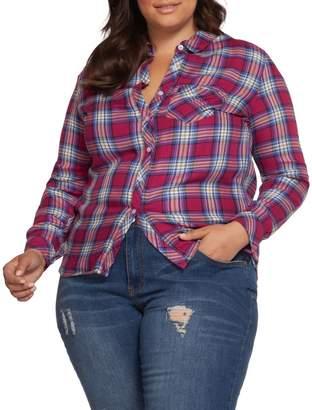 Dex Plus Long Sleeve Button-Down Plaid Shirt