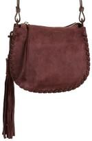 AllSaints Mori Suede Crossbody Bag - Purple
