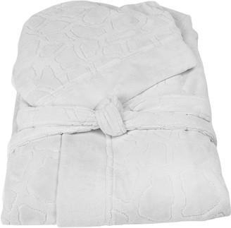 Roberto Cavalli Jerapah Italian Hooded Bathrobe - Size XXL, White