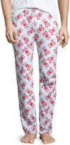 Psycho Bunny Logo-Print Lounge Pants, Poppy Red Big Bunny