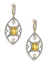 Ivy Diamond, Yellow Sapphire & Spinel Drop Earrings
