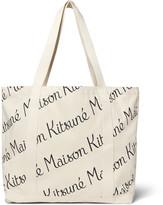 Maison Kitsuné - Printed Canvas Tote Bag