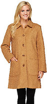 Denim & Co. Woven Boucle Coat with Button Front