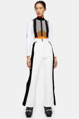 Topshop White Color Block Flare Ski Pants by SNO