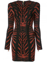 Balmain tiger print stretch-knit dress