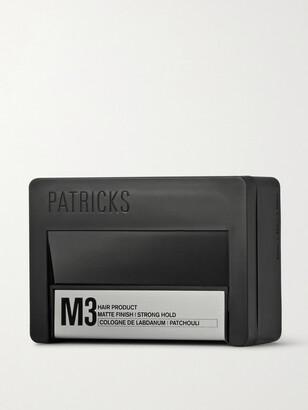 Patricks M3 Matte Finish Strong Hold Pomade, 75g