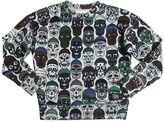 Molo Skulls Print Cotton Sweatshirt