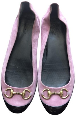 Gucci Pink Suede Ballet flats