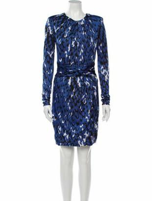 Issa Animal Print Mini Dress w/ Tags Blue