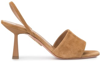 Aquazzura Leigh suede 75mm sandals