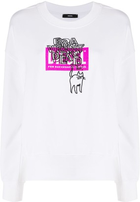 Diesel Embroidered Cat Jumper