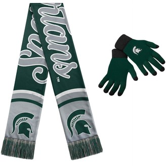 Women's Michigan State Spartans Glove and Scarf Set