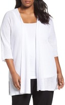 Eileen Fisher Plus Size Women's Organic Linen Links Knit Kimono