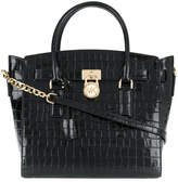 Michael Kors crocodile embossed tote bag