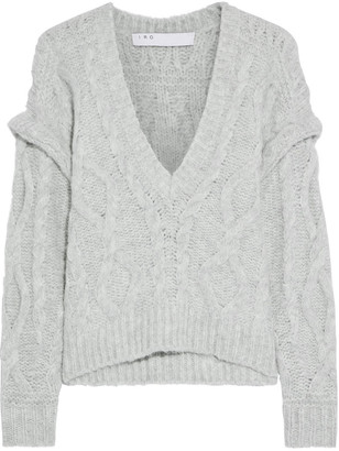 IRO Homny Brushed Cable-knit Sweater