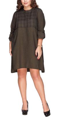 Peony Swimwear Plus Wool-Blend Dress