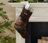 Pottery Barn Faux Fur Stocking - Brown Bear