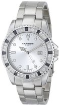 Akribos XXIV Unisex AK702SS Swiss Quartz Black Crystal Stainless Steel Bracelet Watch