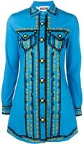 Moschino pixel print shirt dress