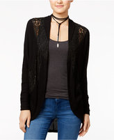American Rag Lace-Contrast Cocoon Cardigan, Only at Macy's