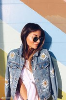 Forever 21 Daisy Patched Denim Jacket