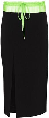 Supriya Lele Contrasting Waistband Slit Skirt