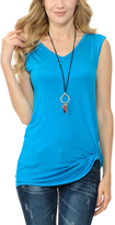 Turquoise Side-Knot Tee