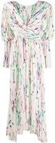 Isabel Marant Filao crossover-waist abstract-print dress
