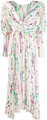 Isabel Marant Filao crossover-waist abstract-print dress