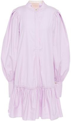Roksanda Deva Gathered Cotton-poplin Mini Dress