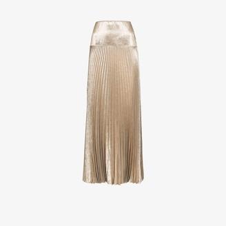 Chloé Metallic Pleated Maxi Skirt