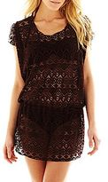 JCPenney Bisou Bisou® Crochet Tunic Cover-Up