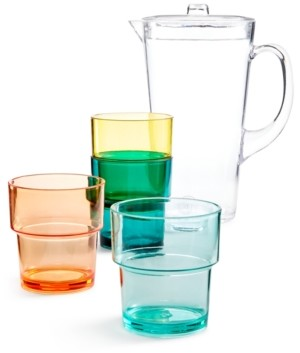 Martha Stewart Collection So-Cal Acrylic Pitcher 5-Pc. Set, Created for Macy's