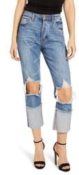 AFRM Dylan Ripped High Waist Crop Jeans