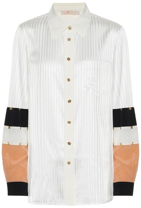 Tory Burch Stretch-silk jacquard blouse