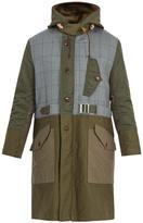 Junya Watanabe Contrast-panel hooded cotton parka