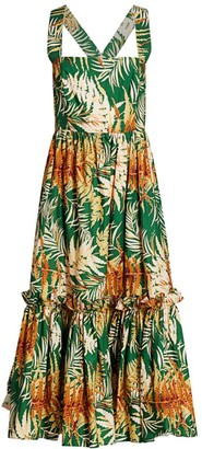 Cara Cara Julia Tropical Floral Midi Dress