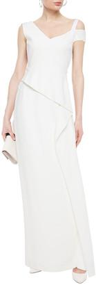 Roland Mouret Asymmetric Draped Stretch-crepe Gown